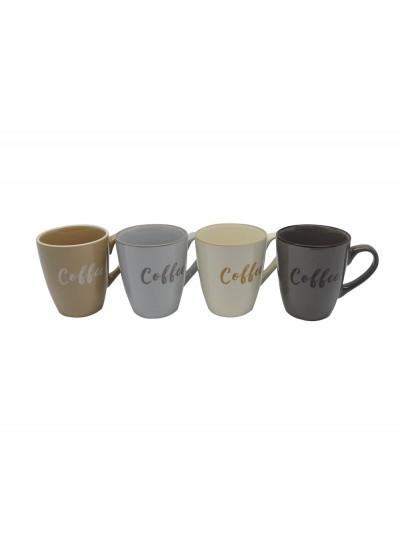 ΚΟΥΠΑ ΚΕΡΑΜΙΚΗ 250ml 4 ΧΡΩΜΑΤΑ Coffee ANKOR