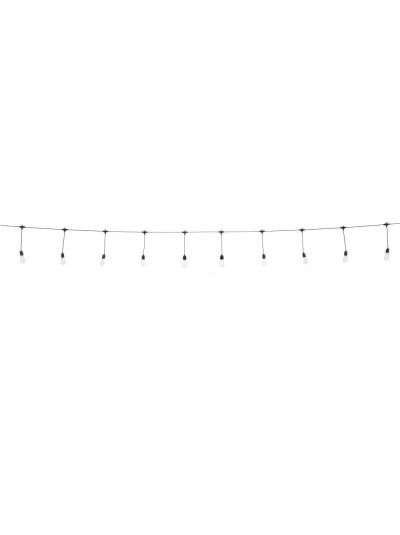 ΛΑΜΠΑΚΙ ΚΗΠΟΥ ΛΕΥΚΟ ΜΕ 25 ΜΕΓΑΛΕΣ ΛΑΜΠΕΣ 40ΕΚ ΑΠΟΣΤΑΣΗ, ΣΥΝΟΛΟ 10ΜΕΤΡΑ + 3ΜΕΤΡΑ ΚΑΛΩΔΙΟ ΠΡΟΣ ΜΠΡΙ