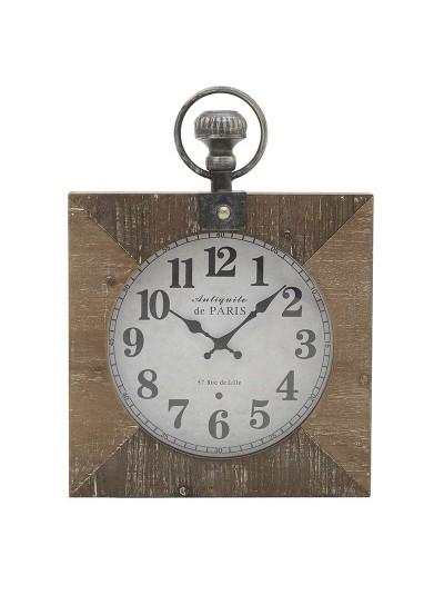 INART Ξύλινο/Μεταλλικό Ρολόι τοίχου, Σε Natural Χρώμα Κωδικός: 3-20-178-0004 Διαστάσεις: 40Χ6Χ53 Εκατοστά