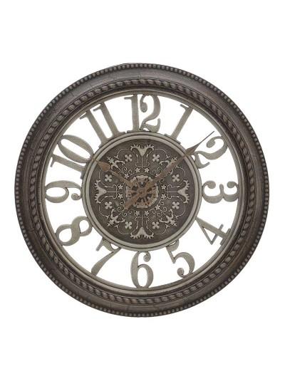 Ρολόι Τοίχου INART σε Καφέ Χρυσό Χρώμα