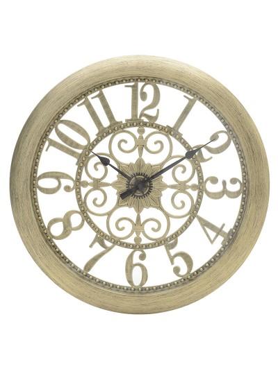 Ρολόι Τοίχου ΙΝΑRT Polyresin Αντικέ Χρυσό Κωδικός: 3-20-284-0078 Διαστάσεις: 51Χ5Χ51 Εκατοστά