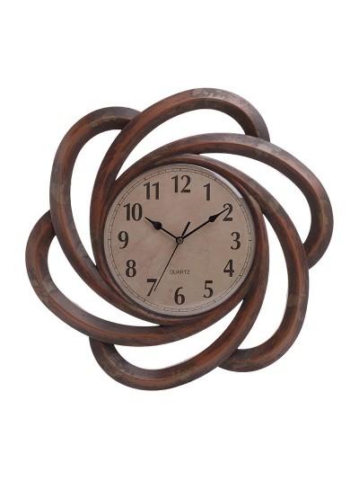 INART Πλαστικό Ρολόι Τοίχου Αντικέ Καφέ/Μπρονζέ Κωδικός; 3-20-284-0097 Διαστάσεις; 40,6Χ3,5 Εκατοστά