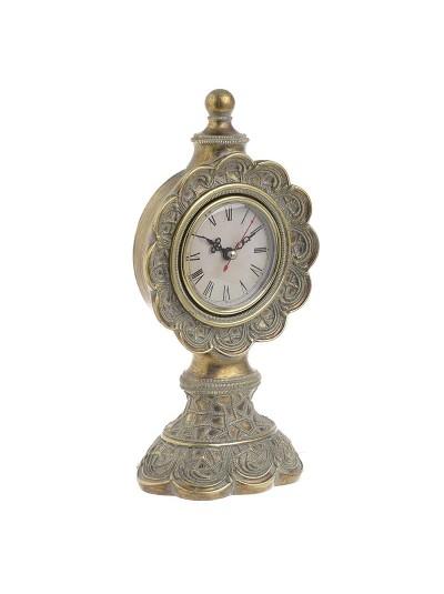 INART Επιτραπέζιο Ρολόι Polyresin  Αντικέ Χρυσό Κωδικός: 3-20-383-0002 Διαστάσεις: 27X12.5X9.8 Εκατοστά