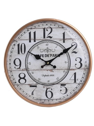INART Μεταλλικό Ρολόι Τοίχου Λευκό/Χρυσό Κωδικός: 3-20-773-0264 Διαστάσεις: 31,5Χ2 Εκατοστά