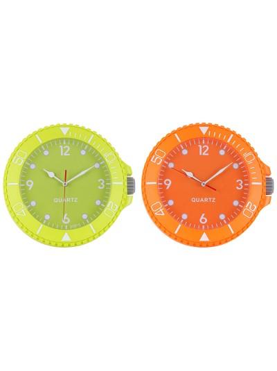INART Πλαστικό Ρολόι Τοίχου Σε Δυο Χρώματα Κωδικός: 3-20-778-0093 Διαστάσεις: 26Χ5 Εκατοστά