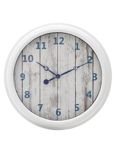 INART Πλαστικό Ρολόι Τοίχου Λευκό/Μπλε Κωδικός: 3-20-828-0095 Διαστάσεις; 40,5Χ4 Εκατοστά