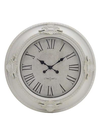 Ρολόι Τοίχου Πλαστικό INART Αντικέ Λευκό/Χρυσό Κωδικός: 3-20-925-0007 Διαστάσεις: 57,557,5Χ5,7 Εκατοστά