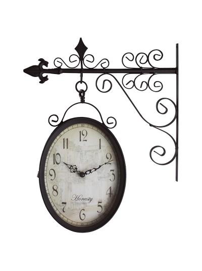 INART Μεταλλικό Ρολόι Σταθμού Καφέ Κωδικός: 3-25-021-0104 Διαστάσεις: 36Χ9Χ38 Εκατοστά