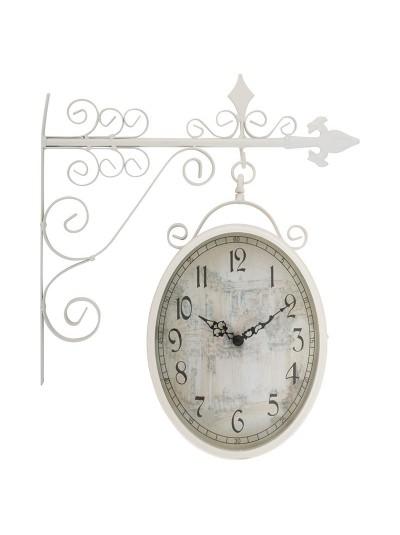 INART Μεταλλικό Ρολόι Σταθμού Λευκό Κωδικός: 3-25-021-0105 Διαστάσεις: 36Χ9Χ45 Εκατοστά