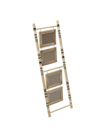 INART Ξύλινη Kορνίζα/Σκάλα 4 Θέσεων Σε Natural Χρώμα Κωδικός: 3-30-105-0120