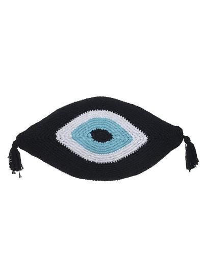 "INART Μαξιλάρι Mακραμέ ""Μάτι Mαύρο Κωδικός: 3-40-826-0005 Διαστάσεις: 30X50"
