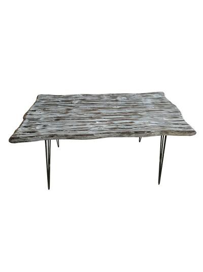 INART Τραπέζι Ξύλινο Αντικέ Λευκό Μαύρο Κωδικός: 3-50-184-0001 Διαστάσεις: 120Χ60Χ75 Εκατοστά