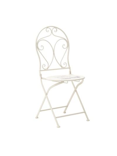 INART Μεταλλικό Τραπέζι Με 2 Καρέκλες Vintage Εκρού Κωδικός: 3-50-207-0060