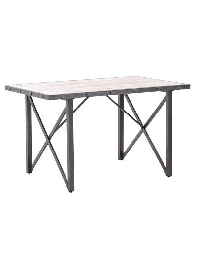 INART Μεταλλικό/Ξύλινο Τραπέζι Κωδικός: 3-50-235-0053 Διαστάσεις: 138X86X80 Εκατοστά