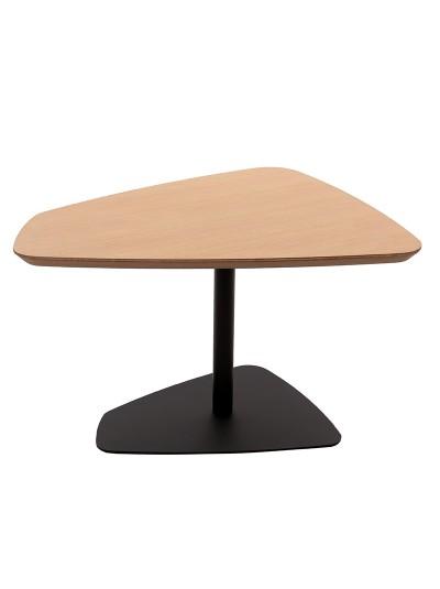 Τραπέζι Ξύλινο INART με Μεταλλική Βάση Natural/Μαύρο Κωδικός: 3-50-263-0006 Διαστάσεις: 66X57X40 Εκατοστά