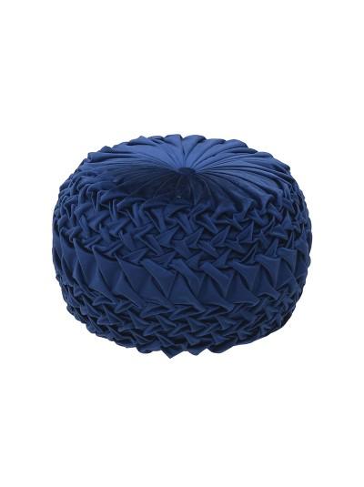 INART Βελούδινο Πούφ Μπλε Κωδικός: 3-50-291-0040 Διαστάσεις: 50Χ50Χ30 Εκατοστά