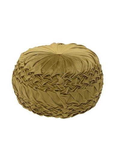 INART Βελούδινο Πούφ Χρυσό Κωδικός: 3-50-291-0043 Διαστάσεις: 50Χ50Χ30 Εκατοστά