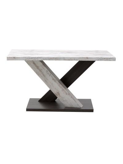 INART Τραπέζι Σαλονιού Λευκό/Καφέ Κωδικός: 3-50-433-0008 Διαστάσεις: 140x80x75  Εκατοστά