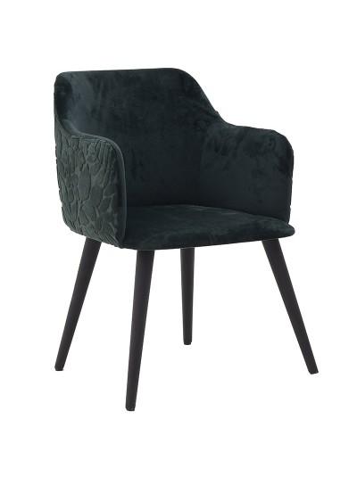 INART Βελούδινη Καρέκλα Πράσινη Κωδικός: 3-50-466-0062 Διαστάσεις: 57Χ54Χ76 Εκατοστά