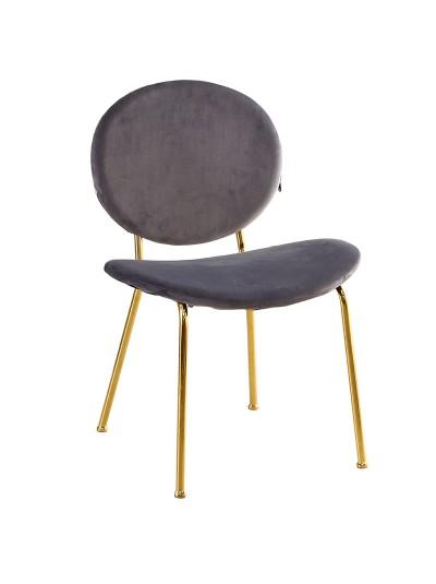 Βελούδινη Καρέκλα INART Κωδικός: 3-50-529-0004 Διαστάσεις: 61Χ61Χ86 Εκατοστά