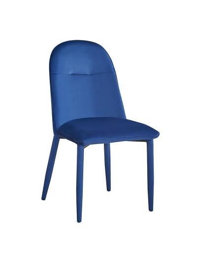 INART Βελούδινη Καρέκλα Μπλε Κωδικός:  3-50-553-0001 Διαστάσεις: 45X45X82 Εκατοστά