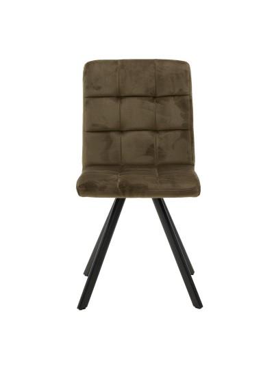 Βελούδινη/Μεταλλική Καρέκλα