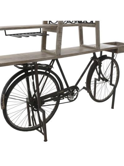 "INART Ξύλινη Μπουκαλοθήκη / Μπαρ ""Ποδήλατο'' Κωδικός: 3-50-695-0001 Διαστάσεις: 187Χ32Χ182 Εκατοστά"