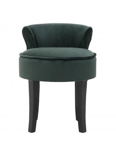 Καρέκλα/Σκαμπώ Υφασμάτινη Κυπαρισσί με Ξύλινα Πόδια INART Κωδικός: 3-50-721-0189 Διαστάσεις: 45Χ45Χ58 Εκατοστά