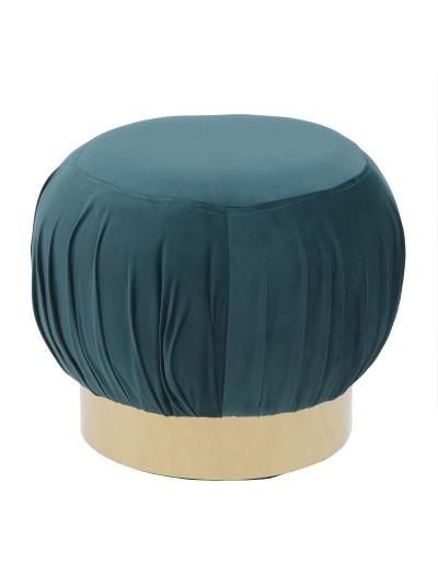 INART Βελούδινο Σκαμπώ πράσινο με Χρυσή Βάση Κωδικός: 3-50-771-0018 Διαστάσεις: 45X45X37 Εκατοστά