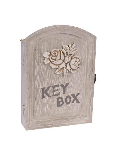 Ξύλινη Κλειδοθήκη Τοίχου 17X5X24 Εκατοστά INART 3-70-147-0006