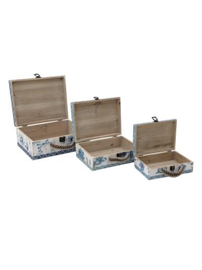 INART Κουτί Βαλίτσα Σετ 3 Τεμαχίων Κωδικός: 3-70-216-0086 Διαστάσεις: 34Χ27Χ14 Εκατοστά