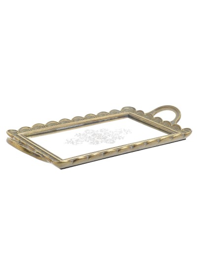 INART Δίσκος Polyresin Με Καθρέπτη Αντικέ Χρυσός Κωδικός: 3-70-383-0029 Διαστάσεις: 24Χ4Χ43,5 Εκατοστά