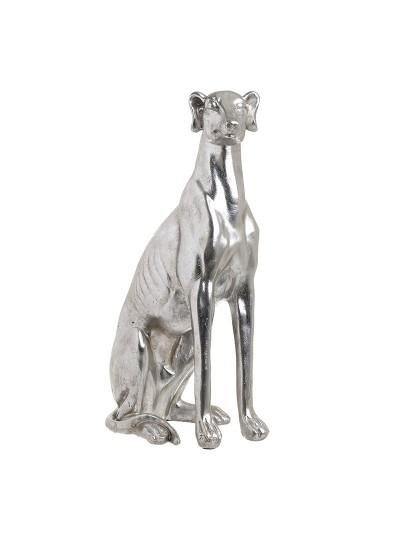 """INART Διακοσμητικό Polyresin """" Σκύλος"""" Ασημί Κωδικός: 3-70-772-0008 Διαστάσεις: 22X14X40 Εκατοστά"""