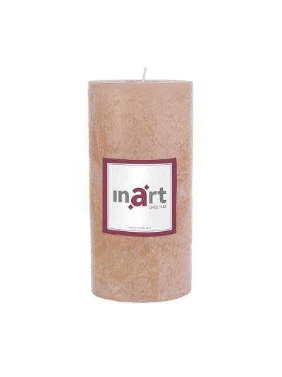Κερί Παραφίνης Άρωμα Βανίλια Εκρού 7X15 cm