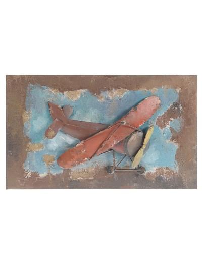 "INART Πίνακας Μεταλλικός ""Αεροπλάνο"" Κωδικός: 3-90-232-0008 Διαστάσεις: 50Χ4Χ30 Εκατοστά"