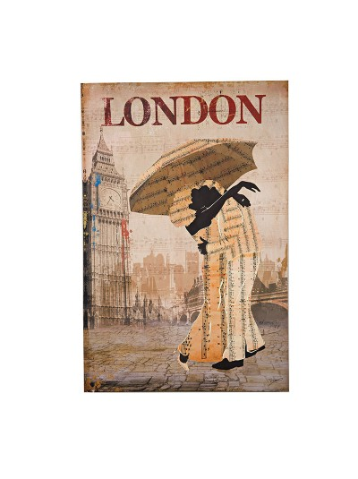 Πίνακας/καμβάς printed London INART Κωδικός: 3-90-442-0004 Διαστάσεις: 60X2X90 Εκατοστά