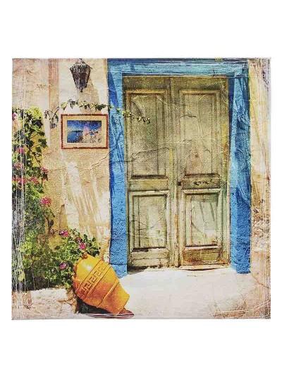 "INART Πίνακας Σε Καμβά ""Πόρτα"" Κωδικός: 3-90-940-0019 Διαστάσεις: 55.5X4X55.5 Εκατοστά"