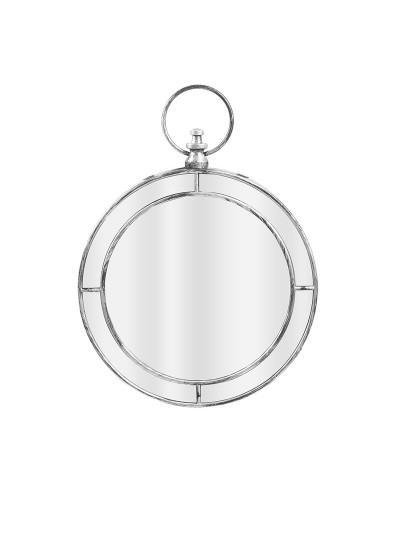 INART Καθρέπτης Τοίχου Στρογγυλός Αντικέ Ασημί Κωδικός: 3-95-058-0043 Διαστάσεις: 58.7Χ43,5 Εκατοστά
