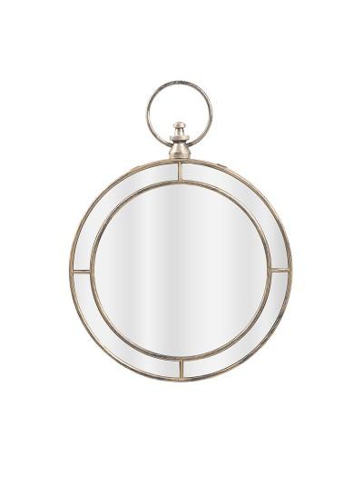 INART Καθρέπτης Τοίχου Στρογγυλός Αντικέ Χρυσό Κωδικός: 3-95-058-0044 Διαστάσεις: 58.7Χ43,5 Εκατοστά