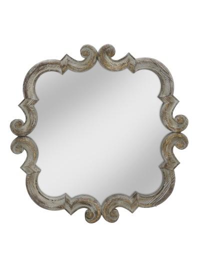 INART Καθρέπτης Τοίχου Αντικέ Χρυσό με Περίτεχνο Σχέδιο Κωδικός: 3-95-725-0016 Διαστάσεις: 64X3,5X64 Εκατοστά