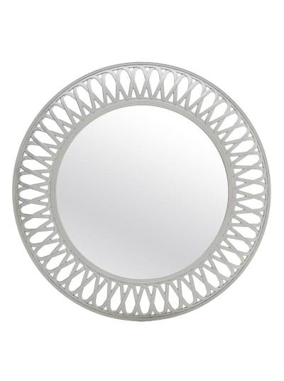 INART Πλαστικός Στρογγυλός Καθρέπτης Αντικέ Λευκό/Ασημί Κωδκός: 3-95-925-0012 Διαστάσεις; 75Χ5 Εκατοστά
