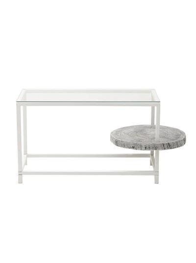 INART Μεταλλικό/Ξύλινο/Γυάλινο Τραπέζι Σαλονιού Natural με Επιφάνεια από Γυαλί Κωδικός: 7-50-076-0002 Διαστάσεις: 51Χ57Χ67 Εκατοστά
