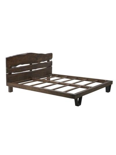 INART Διπλό Κρεβάτι από Μασίφ Ξύλο Μάνγκο Καφέ/Χρυσό Κωδικός: 7-50-350-0005 Διαστάσεις: 180Χ214 Εκατοστά