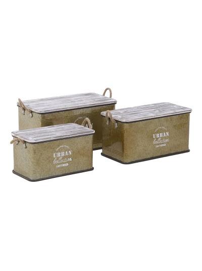 Σκαμπό/Κουτί Σετ Των 3 3-50-493-0007