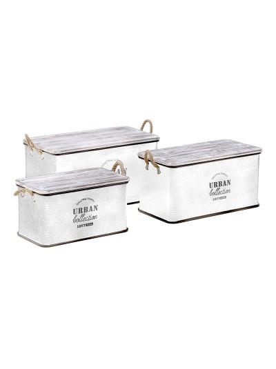Σκαμπό/Κουτί Σετ Των 3 3-50-493-0008
