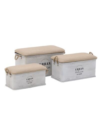 Σκαμπό/Κουτί Σετ Των 3 3-50-493-0010