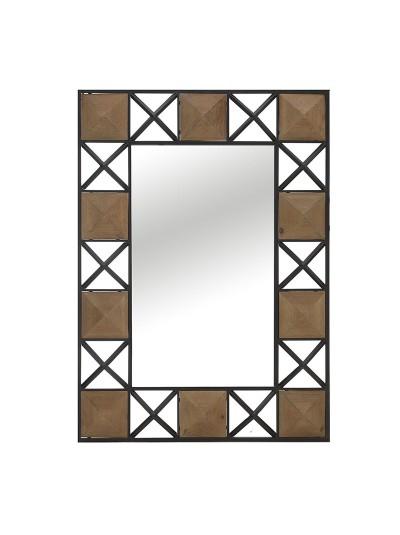 INART Μεταλλικός Καθρέπτης Τοίχου Καφέ/Χρυσό Κωδικός: 3-95-294-0026 Διαστάσεις: 68Χ94,5 Εκατοστά