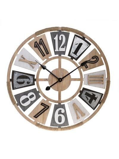 Inart Ρολόι Τοίχου 3-20-484-0474