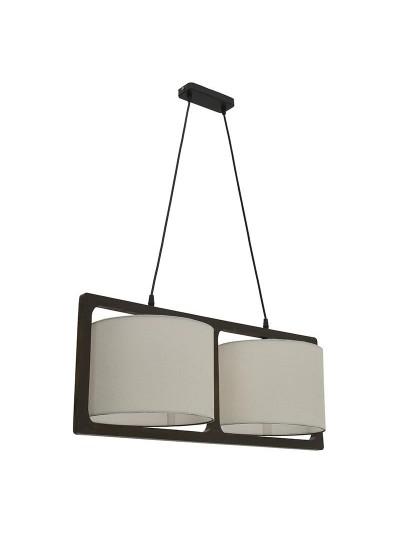 Inart Ξύλινο Φωτιστικό Οροφής Καφέ/Εκρού Διαστάσεις: 74X30X30 Κωδ: 6-10-584-0043
