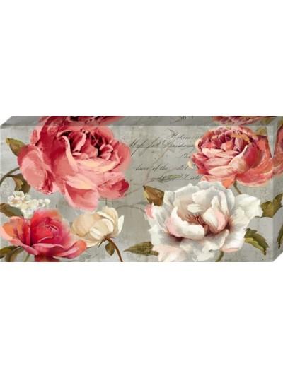 Ελαιογραφία με Τριαντάφυλλα 80 X 40 Eκατοστά